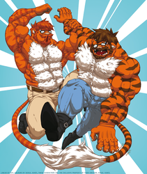 Liger twins 1: Saril and Sergil by Sat by Fast-Ashadonic