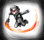 Shadow Mario by Gameaddict1234