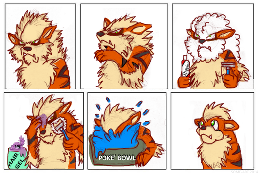 When Poke'Men Shave by Some-Art