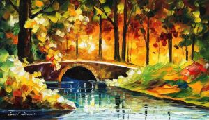 Bridge Over The Life by Leonid Afremov