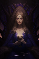 .: Queen of Cups Leidora :. by arhiee