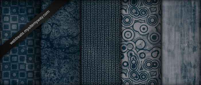Midnight Blue Grunge Patterns by WebTreatsETC