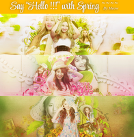 120215 PSD Say Hello with Spring by Mlixxx