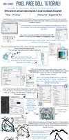 Pixel [page doll style] Tutorial! by Koikii