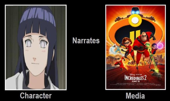 Hinata Narrates Incredibles 2 by JasonPictures