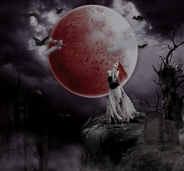 Sanguine Moon by lupineGrin