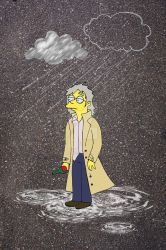 Waylon Smithers 'Rain and memories' by marla666