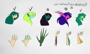 Guide to properly drawing mermaids Pg.5 by Jakegothicsnake