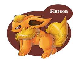 Puffy Flareon - Collab by Kyrara