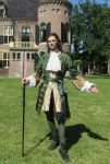 Green and Gold Silk Frock Coat and Waistcoat by paul-rosenkavalier