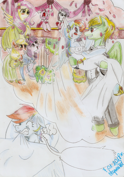 Bad dream-Rainbow Dash and Zephyr (wedding day) by Agnesika