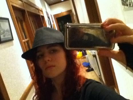 Me, a Hat, and an iPod by IWantToBeEmmaPeel