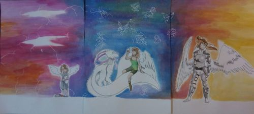 Triptych art: Complete version by malaysianjrartist