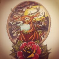 deerroseframemoon by WillemXSM