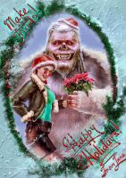 Merry Croftmas and happy Yeti Day! by Inna-Vjuzhanina