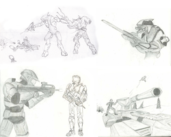 Halo Fan Sketches by Riot-Inducer