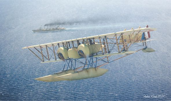 Caudron G.IV Hydravion by rOEN911