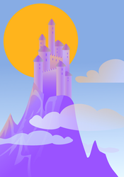 Castle in the clouds by TheBrassGlass