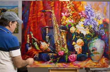 Still Life Oil Painting on Canvas by Leon Devenice by leondevenice