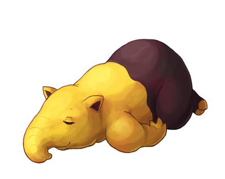 Type Collab: Psychic - Drowzee by Krisantyne