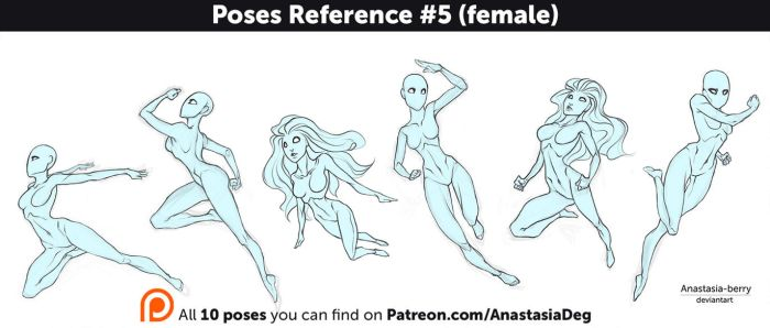 Poses Reference #5 (female) by Anastasia-berry