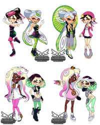 Squid Sisters + Off The Hook Outfit Swap (8 6 2018 by theskywaker
