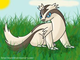 A Linoone in tall grass.