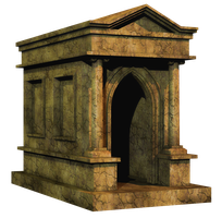 Crypt PNG Stock by Roy3D