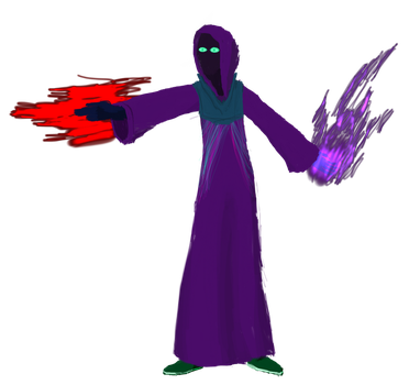 Shadow mage by IndigoWizard