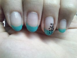 Turquoise French manicure by Anonymous---Lucifer