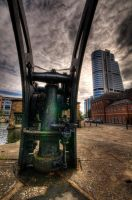 Crane and Tower by taffmeister