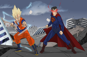 Alliance V2 (dragon ball / Superman) by nemotrex