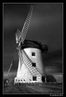 Windmill Black and White HDR by Leeby