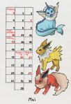 Pokemon calendar may 2018 by Rhapsody-of-Luna