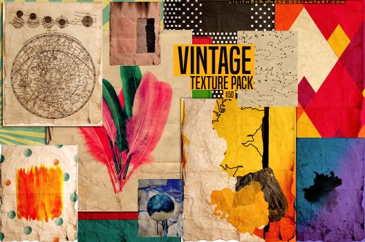 2- Vintage Texture Pack #50 by LilithDemoness