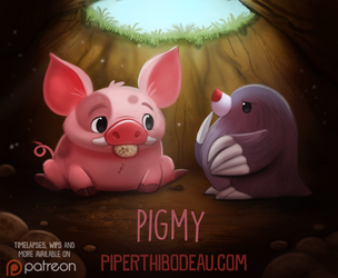 Daily Paint 1610. Pigmy by Cryptid-Creations