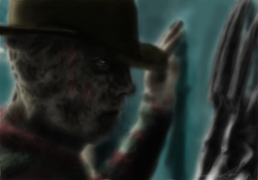 Freddy Krueger's evil eyes by gaaraxel-13