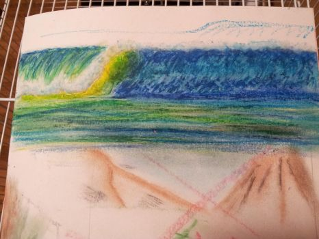 oil pastel try out 1 by Ark-illustrates