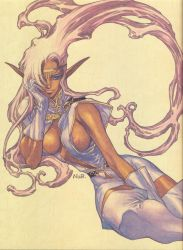 Pirotess is a gorgeous dark elf by Wesker1984