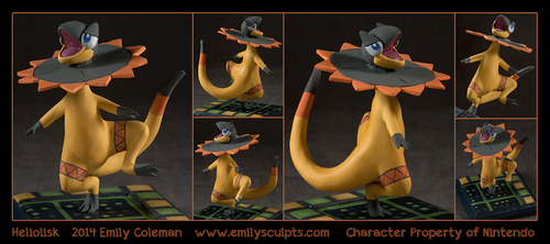 Commission : Heliolisk by emilySculpts