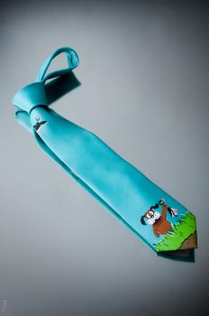 Duck Hunt tie by Maya-Plisetskaya
