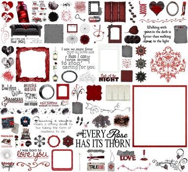 True Blood / Vampire: Word Art + Clear Cut PNG 25 by riogirl9909