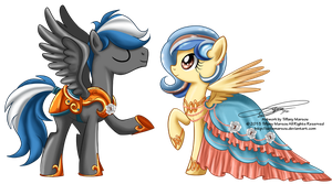 Commission - Cloud Zapper and Caramel Cloud by selinmarsou