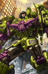 Devastator coloured by markerguru