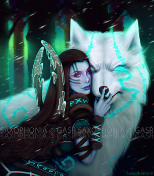 Skadi Fan Art for Moirai by Saxophonia