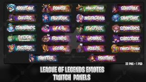 League Of Legends Emotes - Twitch Panels #2
