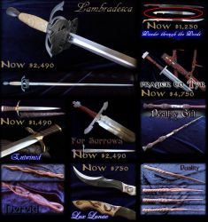 Prices reduced up to $750US on my swords by Fableblades