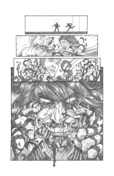 Solar Man of The Atom #11 page 6 Pencils by anthonymarques