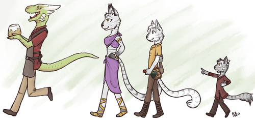 Family Stroll by Diplton