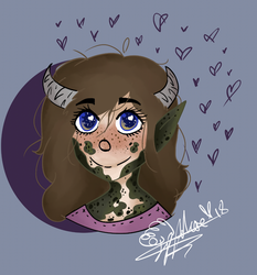 A smol She Ogre (a new icon n stuff) by MyLittleJewMonster